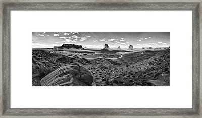Pure Monument Valley Framed Print by Andreas Freund