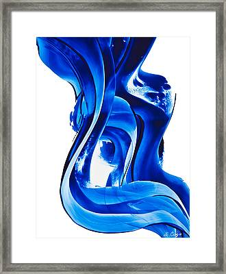 Framed Print featuring the painting Pure Water 66 by Sharon Cummings
