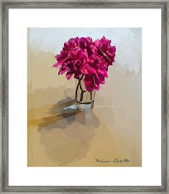 Purple Dahlias Framed Print