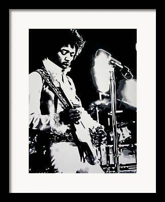 Rhythm And Blues And Soul Guitarist Framed Prints
