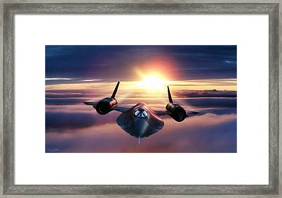 Purple Haze Framed Print by Peter Chilelli