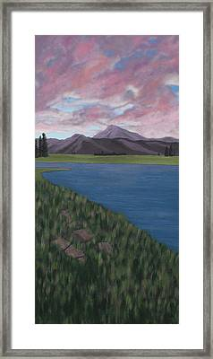 Purple Mountains Framed Print by Candace Shockley