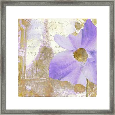 Purple Paris I Framed Print by Mindy Sommers