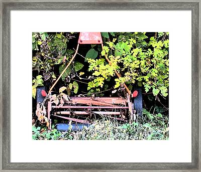 Push Mower Framed Print by Gary Everson