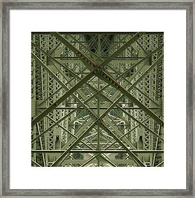 Puzzled Bridge Framed Print