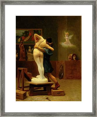 Pygmalion And Galatea Framed Print by Jean - Leon Gerome