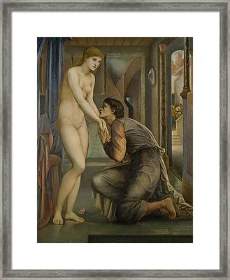 Pygmalion And The Image The Soul Attains  Framed Print by Edward Burne-Jones
