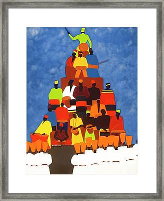 Pyramid Of African Drummers Framed Print
