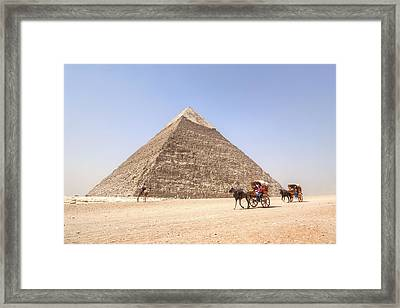 Pyramid Of Khafre - Egypt Framed Print