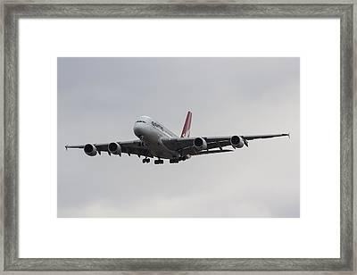 Qantas Airbus A380 Framed Print