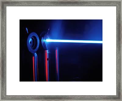 Quantum Entanglement Apparatus Framed Print by Volker Steger