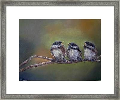 Quarelling Framed Print