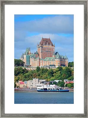 Quebec City Skyline Framed Print