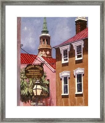 Queen And State Framed Print by Perry Ashe
