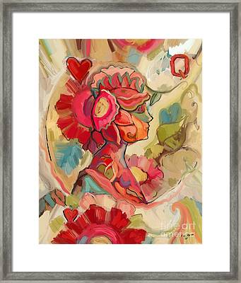 Queen Of Hearts Framed Print by Carrie Joy Byrnes