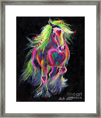 Queen Of Hearts Pony  Framed Print by Louise Green