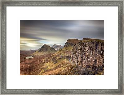 Framed Print featuring the photograph Quiraing - Isle Of Skye by Grant Glendinning