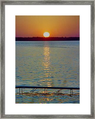 Quite Pier Sunset Framed Print