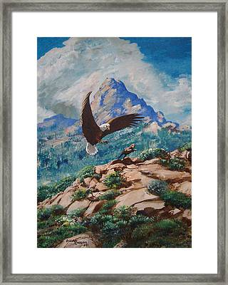 Rabbit Hunt Framed Print by David  Larcom