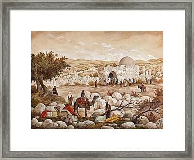Rachel's Tomb Framed Print by Aryeh Weiss