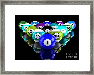 Rack'em Up Art Collection Framed Print