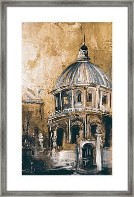 Radcliffe Camera, Oxford City 195 3 Framed Print by Mawra Tahreem