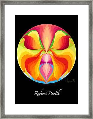 Radiant Health Framed Print by Angela Treat Lyon