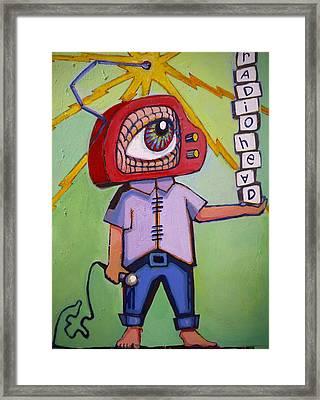 Radio Head Man Framed Print by Erica Shaw