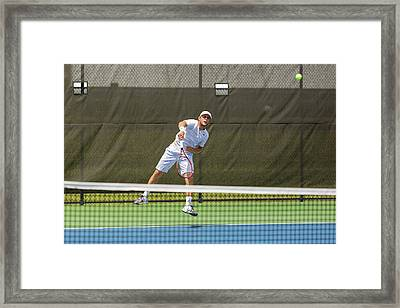 Radu Albot Plays At The Winston-salem Open Framed Print by Bryan Pollard