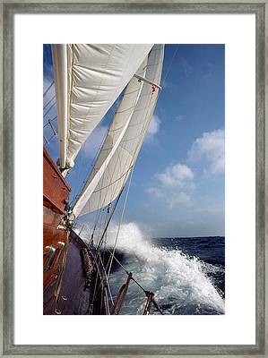 Rail Down Framed Print