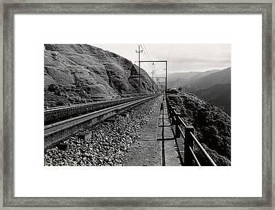 Railroad Framed Print by Amarildo Correa