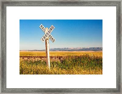 Railroad Crossing Framed Print by Todd Klassy