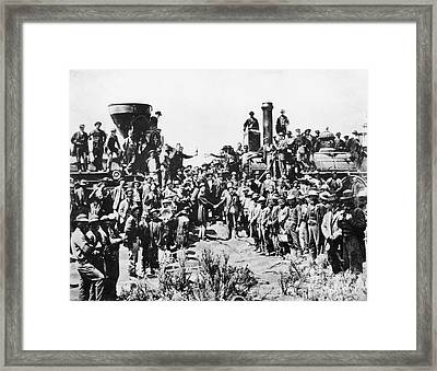 Railroading Framed Print