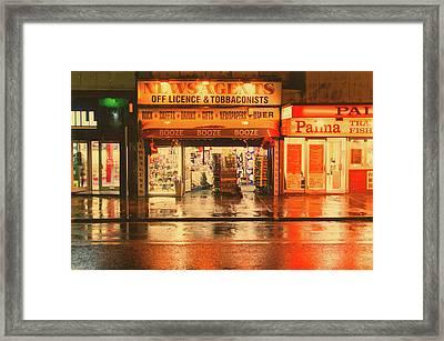 Rain Town Framed Print