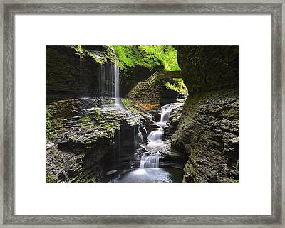 Rainbow Falls Framed Print by Frozen in Time Fine Art Photography
