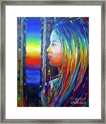 Rainbow Girl 241008 Framed Print