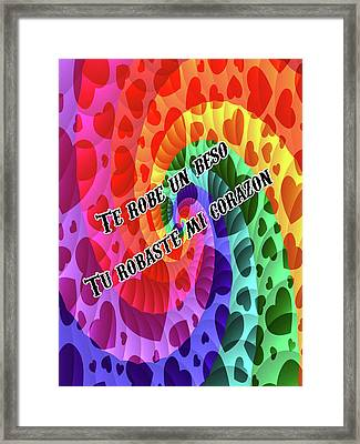 Rainbow Love Framed Print by Mitchell Watrous- Brian Exton
