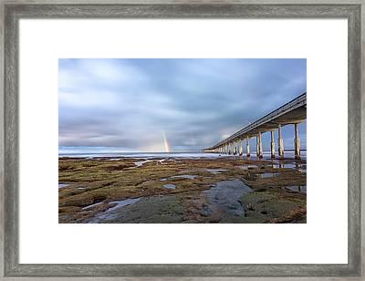 Rainbow On The Horizon Framed Print