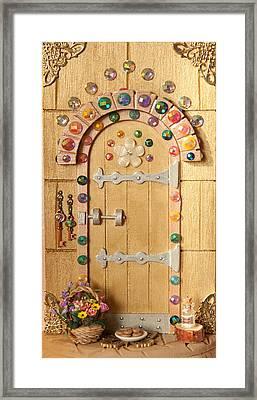 Rainbow Sparkle Fairy Door Framed Print by Kerry Ray