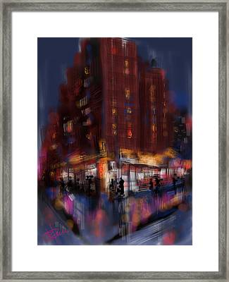Rainy City Framed Print by Russell Pierce
