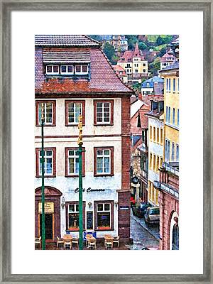 Rainy Day In Heidelberg Framed Print