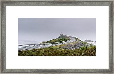 Framed Print featuring the photograph Rainy Day On Atlantic Road by Dmytro Korol