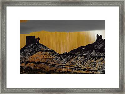 Framed Print featuring the photograph Rainy Day On The River Road by Deborah Hughes