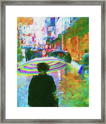 Rainy Morning On 34th Street Framed Print