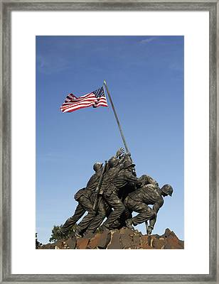 Raising The Flag On Iwo - 799 Framed Print