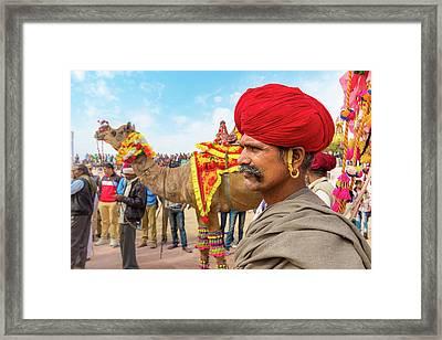 Rajasthani Man Framed Print by Nila Newsom