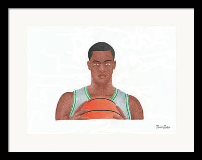 Rajon Rondo Drawings Framed Prints