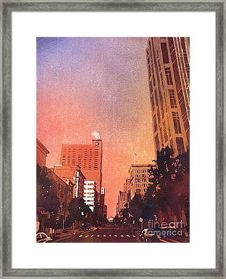 Raleigh Downtown Framed Print by Ryan Fox