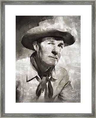 Randolph Scott Hollywood Actor Framed Print