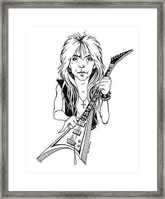 Randy Rhoads Caricature Framed Print